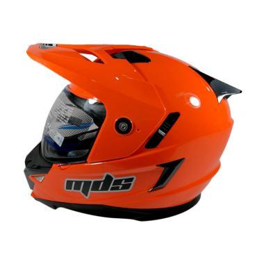 harga MDS Super Pro Trail Cross Double Visor Red fluo Helm Full Face Blibli.com