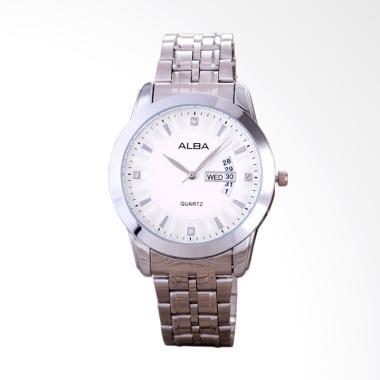 Alba Jam Tangan Pria - Silver White [9031]