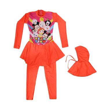 Nice Baby Motif Tsum Baju Renang Anak SD Muslim - Coral