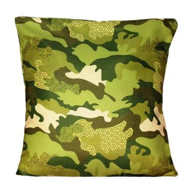 Monalisa Motif Army Sarung Bantal Sofa [40 x 40 cm]