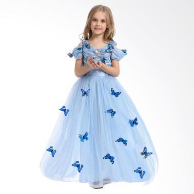 Disney Baju Kostum Princess Cinderella Dress Anak/ Gaun Pesta Anak