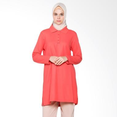 Dauky Long Polo Shirt Atasan Muslim - Peach 216