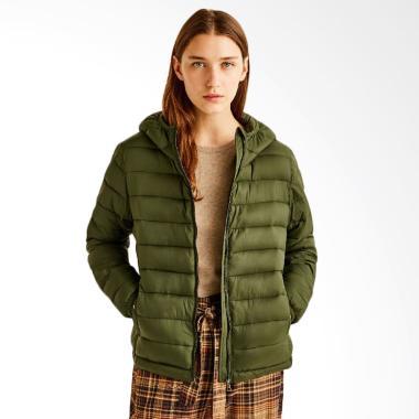 Pull and Bear Hooded Nylon Jacket - Green
