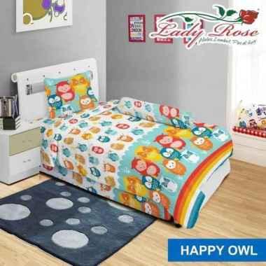Sprei Lady Rose - Happy Owl Multicolor 90 x 200
