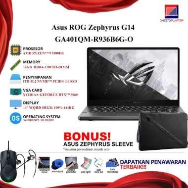 harga ASUS ZEPHYRUS G14 GA401QM-R936B6G-O Ryzen 9 5900HS RTX 3060 16GB 144HZ PAKET LENGKAP Blibli.com