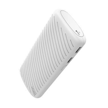 VIVAN VPB-F13 Powerbank - Putih [13000 mAh/ 2.4A Dual USB Cable]