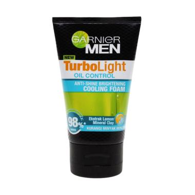 Garnier Men Turbolight Oil Control Foam Sabun ...