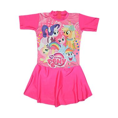 Nice Motif Cute Pony Baju Renang Anak - Fuschia