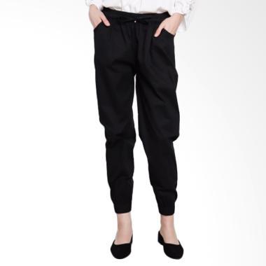 Noia Clothing Women Jogger Pants Celana Wanita - Black