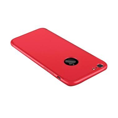iPhone 6 Plus/6s Plus Full Cover Armor Baby Skin Hard Case - Merah