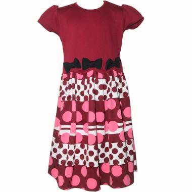 TWO MIX 2145 Billbird Dress Anak - Merah Maroon