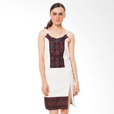STEPH Tanktop Batik with Princess Cut batik Wanita - Beige