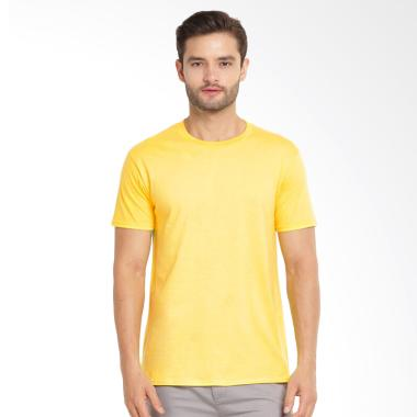 Kingsman Clothing Premium Polos Distro Plain T-Shirt Pria - Yellow