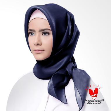 Cotton Bee Organza Square Hijab - Navy