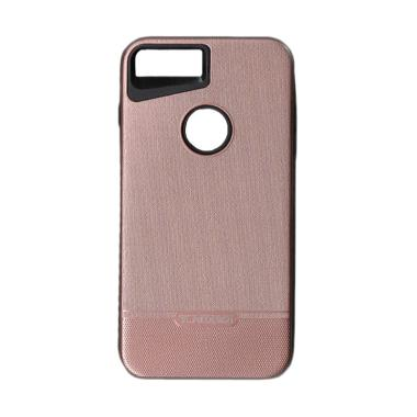 Tunedesign 2 Zip Metal Brushed Casing for iPhone 8 Plus - Rose Gold