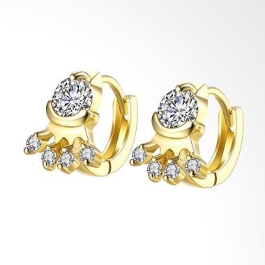 SOXY AKE137 K Gold Is Still Four-Po ... Earrings Plated with Gold