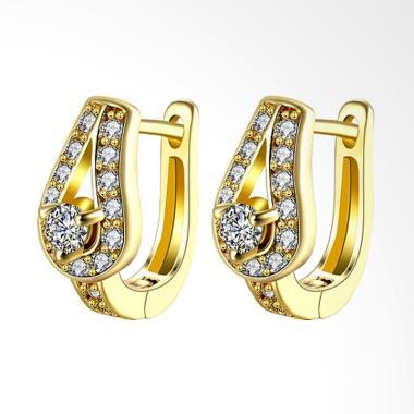 SOXY Fashion AKE134 K Gold Drop Sha ... Earrings Plated with Gold
