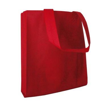 HBS Spunbond Polos Tas Kain Goodie Bag - Merah [25 x 35 x 9 cm]