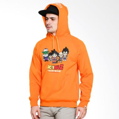 A Bathing Ape Bape X Dragon Ball Z Hoodie Jacket Pria - Orange