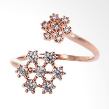 Cocoa Jewelry Snowy Wish Cincin - Rose Gold