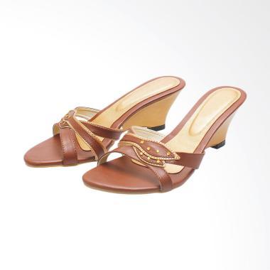 Syaqinah 168 Sandal Heels Wanita - Cokelat