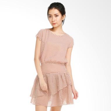 GatsuOne Alma Dress - Cream Polkadot