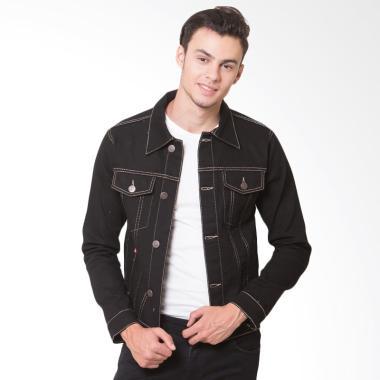 Oliveinch Denim Maximus Jacket Pria - Black Gold