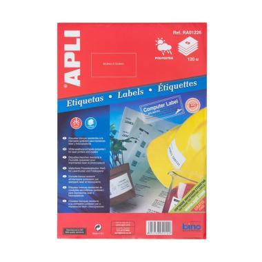 APLI #RA01226 Label Polyester White [64.6 X 33.8 mm/ 120 unit]