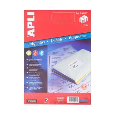 APLI #RA01271 Label Stiker - White  ... r [70 x 30 mm/ 135 unit }