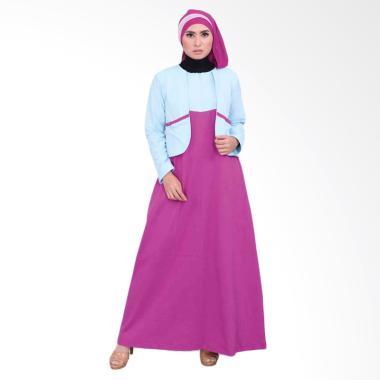 Vemmella Gemma 07 Baju Gamis Muslim Wanita - Biru Muda