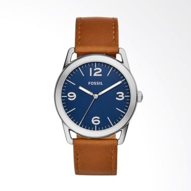 Fossil Ledger Brown Leather Watch BQ 2304 Jam Tangan Pria