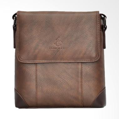 Polo Team Sling Bag Pria - Brown [8602-2/ Size Medium]