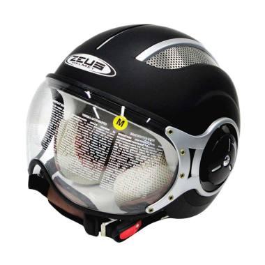 Zeus ZS-218 Helm Half Face - Matt Black