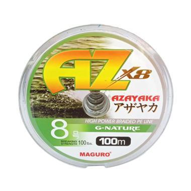 Maguro Azayaka X8 G-Nature PE Senar ...  m/Size 8/Ukuran 100 LBS]