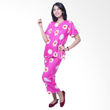 Mama Hamil BD 235 BabyDoll CP Telur ... Setelan Baju Hamil - Pink