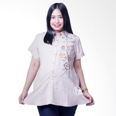 Mama Hamil BLD 407 Lengan Pendek Po ... Baju Atasan Hamil - Cream