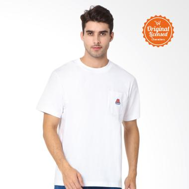 Asian Games 2018 Pocket Logo Tee Adults T-shirt Pria - White