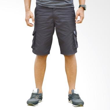 Helder Denim Celana Pendek Cargo Pria - Dark Grey