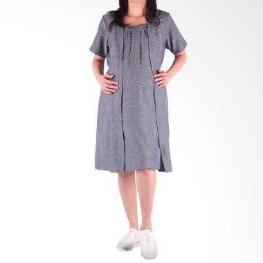 HMILL 1437 Baju Dress Hamil & Menyusui - Grey