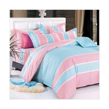 Beglance Cotton Esquel Bed Sheet Set Sprei - Biru