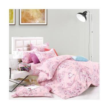 Beglance Cotton Mercy Bed Sheet Set Sprei - Pink