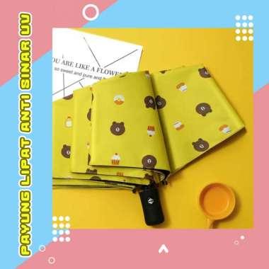 harga Payung Lipat Premium Anti Sinar UV Matahari Panas Hujan Protection Motif Beruang Kuning Blibli.com