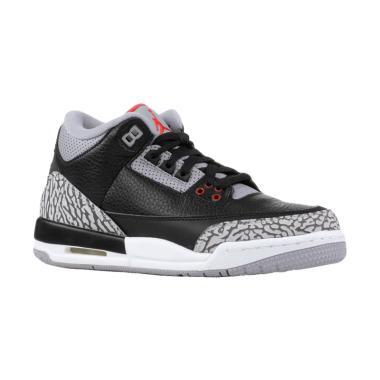 NIKE Men Air Jordan 3 Retro OG Sepa ... Black Cement [854261-001]