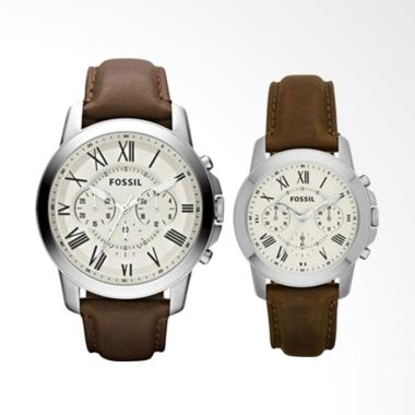Fossil Grant Chronograph Brown Leat ... ngan Couple [FS4735-4839]