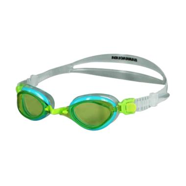 [BUY 1 GET 1] Barracuda Fenix JR Patented TriFushion System Quick Fit Junior Swim Goggle for Children Ages 7-15 - Green [#73855]
