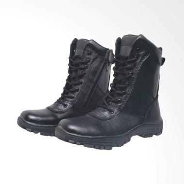 Recommended Kulit Sepatu Boots Pria - Hitam [267 RCM]