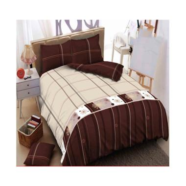 Kintakun Dluxe Logan Set Sprei - Cream Brown
