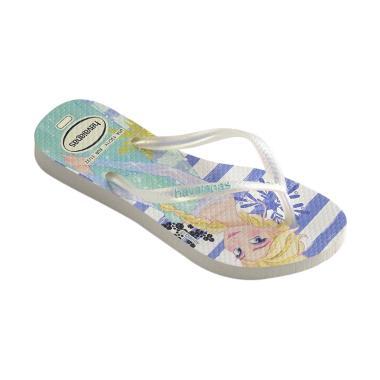 Havaianas Cf 0311 Kids Slim Frozen Sandal Anak Perempuan - White Royal