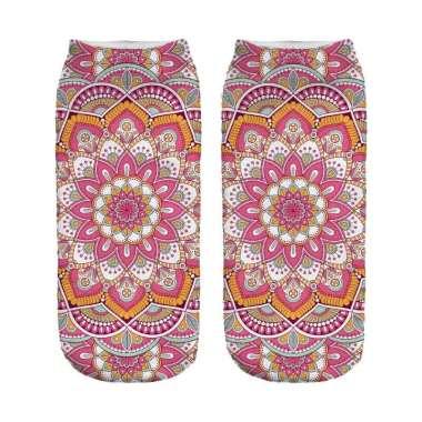 Toko Alat Fitnes Mandala Yoga Sock Kaos Kaki - Baby Pink
