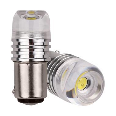 JMS S25 1156 BA15S Strobe Concave Lampu LED Mobil - Green [3 Watt]